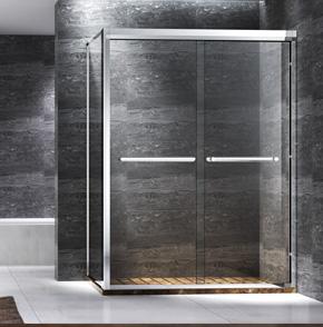 71L12不锈钢两门互推淋浴房