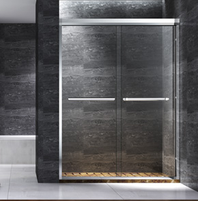 71P02不锈钢屏风淋浴房