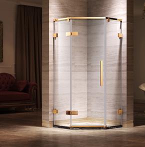66D21钻石型平开门淋浴房