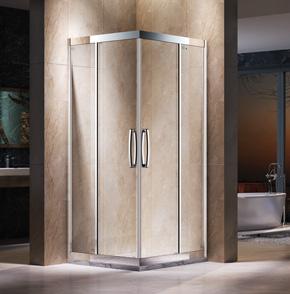 EKL22不锈钢方形推拉淋浴房