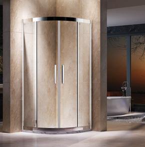 EKS22不锈钢扇形推拉淋浴房