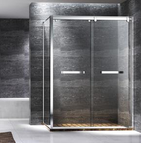 TNL12不锈钢方形推拉淋浴房